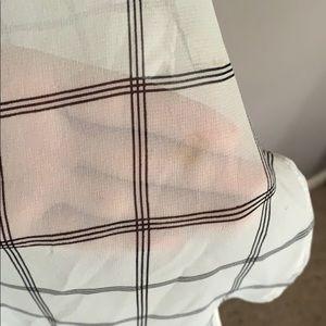 Lush Tops - Sheer plaid high-low tunic by Lush